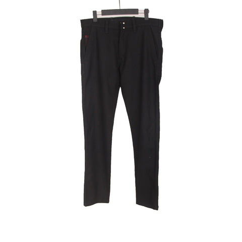 JUNYA WATANABE WOOL PANT W/ LEATHER TRIMS