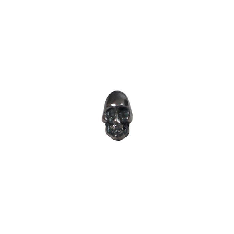 CHIN TEO 925 SILVER SKULL SINGLE EARRING