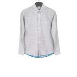 VISVIM SHIRT W/ FELT WOOL EMBROIDERY HEM