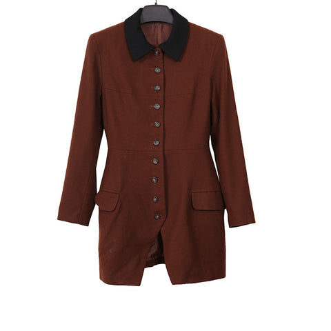 YOHJI YAMAMOTO WOMENSWEAR WOOL BUTTON DOWN MILITARY JACKET