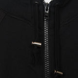 L.G.B SPORTS EQUIPMENT UNDERARM RAW EDGE ZIP UP HOODIE