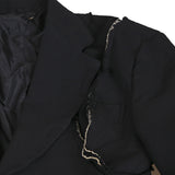 COMME DES GARCONS 14AW POLYESTER DECONSTRUCTED SHOULDER SEAM JACKET