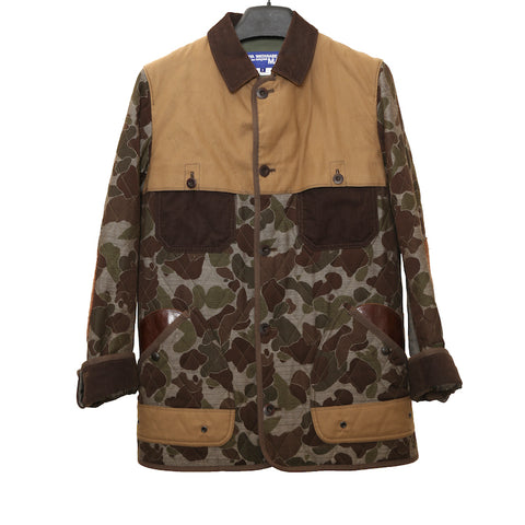 JUNYA WATANABE COMME DES GARCONS MAN AW12 MULTICOLOUR CAMO PATCHWORK COTTON JACKET