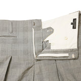 COMME DES GARCONS HOMME PLUS SS14 GREY CHECK PLEATED WOOL SKIRT