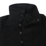 THAMANYAH CASHMERE BUTTON UP FUNNEL NECK COAT