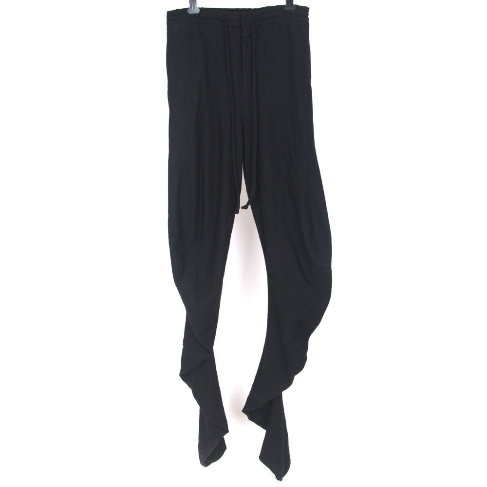 LUMEN ET UMBRA CURVED LEG WOOL PANTS