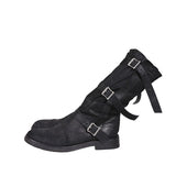 ANN DEMEULEMEESTER NAPPA LEATHER MULTI BUCKLE-STRAP BOOTS