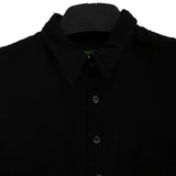 PAUL HARNDEN SHOESMAKERS BLACK SILK GEORGETTE+COTTON CHAD SHIRT