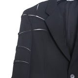 COMME DES GARCONS AW15 WOOL CUT OUT DETAILS BLAZER