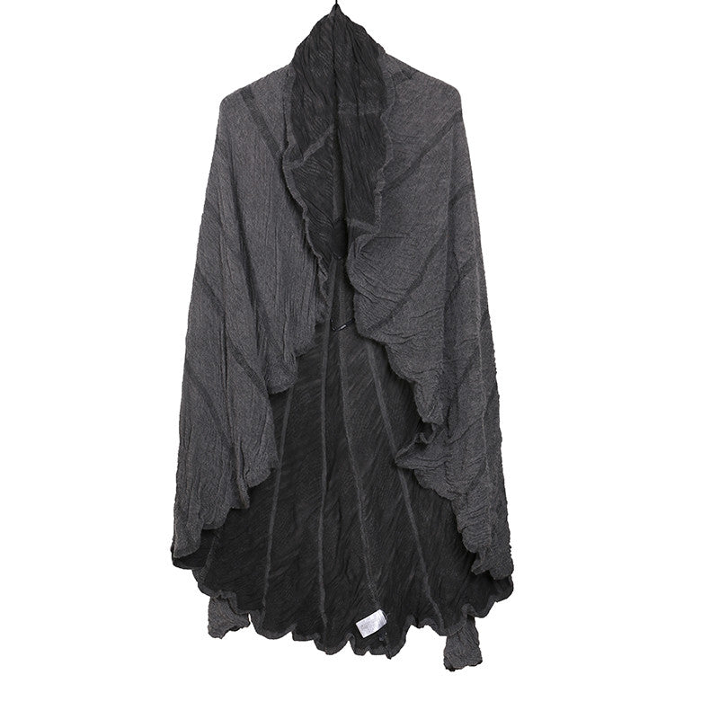 LUMEN ET UMBRA WOOL BLEND KNIT DRAPE CIRCLE CARDIGAN