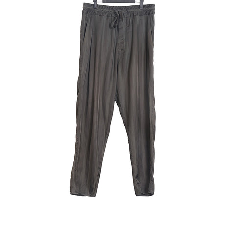 HAIDER ACKERMAN BROAD STRIPED DROP CROTCH PANTS