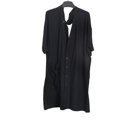LIMI FEU BLACK OVERSIZED SHIRT WITH BACK STRAP DETAIL
