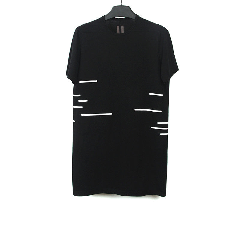 DRKSHDW BY RICK OWENS RIBBON TRIMMED T-SHIRT