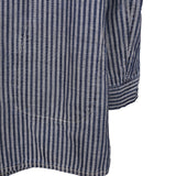 Y'S BY YOHJI YAMAMOTO STRIPED BUTTON DOWN DENIM JACKET