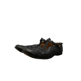PAUL HARNDEN SHOEMAKERS NAVY COWHIDE BUCKLE SHOES