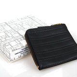 COMME DES GARCONS EMBOSSED STITCH LEATHER WALLET