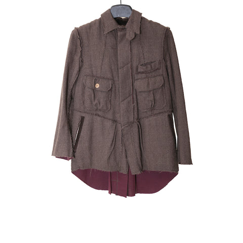 TAKAHIROMIYASHITA THE SOLOIST. AW11 DARK CHARCOAL MULTI POCKESTS CPO WOOL JACKET