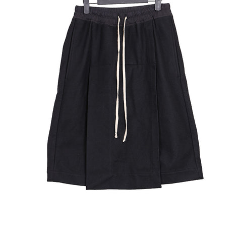RICK OWENS WOOL LOIN POD DROP CROTCH SHORTS