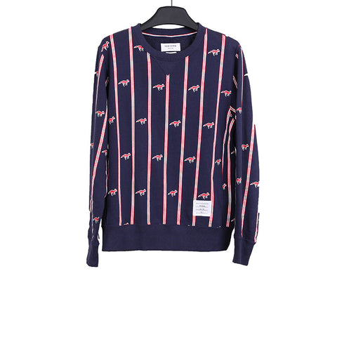 THOM BROWNE FOX STRIPED SWEATSHIRT