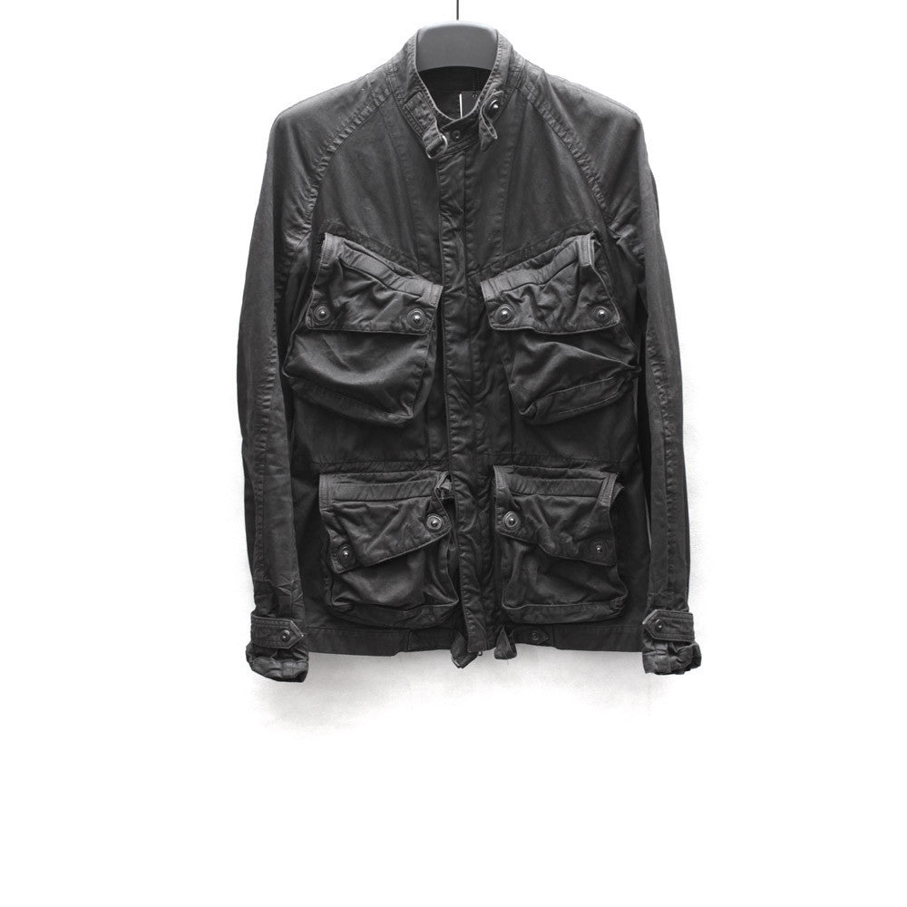 JULIUS_7 SS09 COATED COTTON TWILL JACKET W/ MULTI CARGO POCKETS