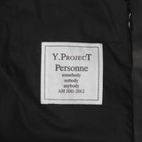 Y PROJECT YOHAN SERFATY LEATHER HGIH NECK JACKET