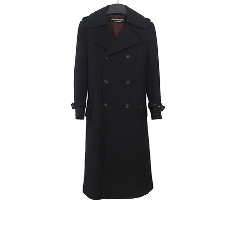 JUNYA WATANABE COMME DES GARCONS WOOL DOUBLE BREAST LONG COAT