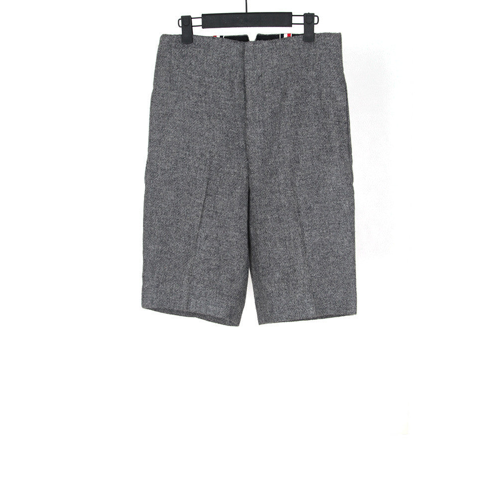 THOM BROWNE WOOL TWEED SHORTS