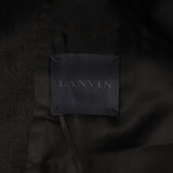 LANVIN COTTON LINEN ZIPPER CLOSURE COAT