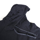 GREG LAUREN BLACK FLEECE PATCHWORK DESTRAOYED HOODIE