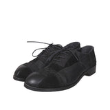 Y'S BY YOHJI YAMAMOTO 15AW BLACK PATCHWORK SUEDE LACE-UP SHOES