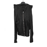 OBSCUR FOLDING COLLAR LEAHTER JACKET