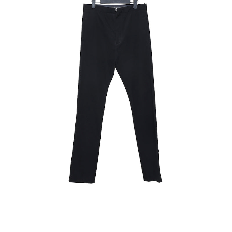 DEEPTI BLACK COTTON OPEN ZIPFLY CLASSIC TROUSERS