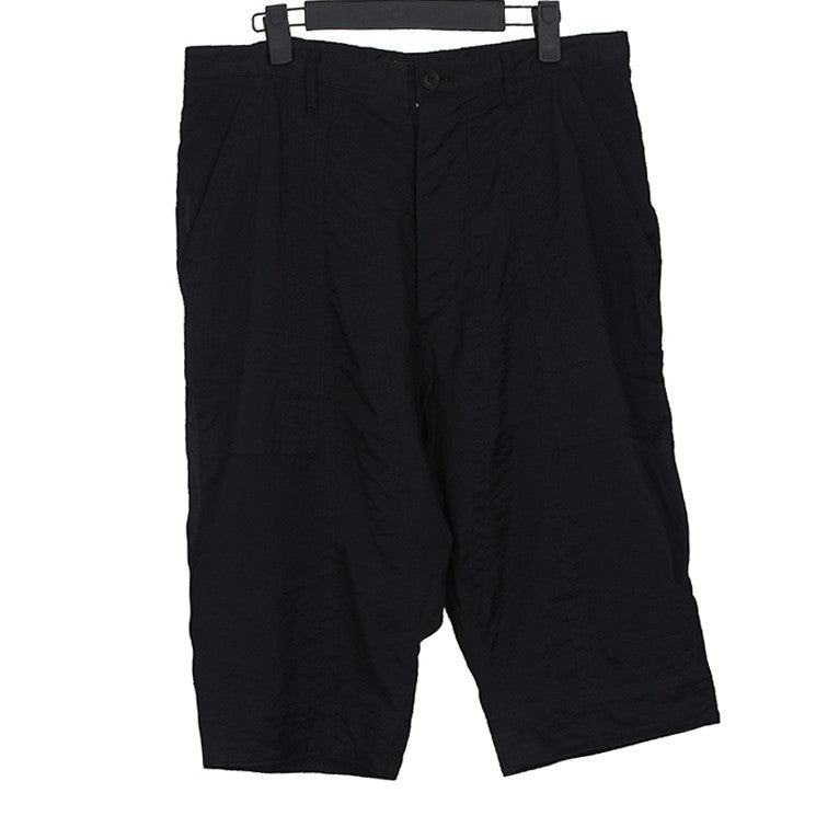 JULIUS_7 SS11 BLACK SHORTS