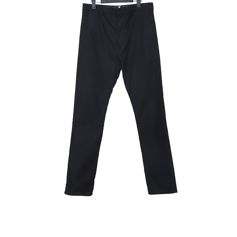 DEEPTI BLACK COTTON OPEN ZIPFLY CLASSIC TROUSERS W. BELTLOOPS