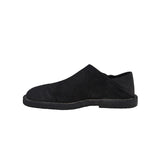 ANN DEMEULEMEESTER BLACK SUEDE LEATHER SLIP-ON SHOES