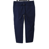 SACAI COTTON BLEND PIN STRIPED PANTS