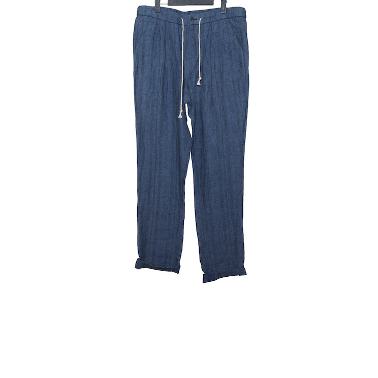 AVIALAE SS16 INDIGO BLUE EASY WAIST LINEN TROUSERS