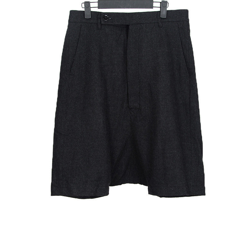 RICK OWENS WOOL TAILORED BERMUDA SHORTS