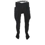 DEVOA WOOL TWIST SEAM CURVE LEG PANTS