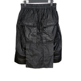 DRKSHDW BY RICK OWENS WAX FLAP COATED DROP CROTCH SHORTS