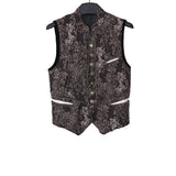TAKAHIROMIYASHITA THE SOLOIST 11AW FLORAL VOBLED RAW EDGE VEST