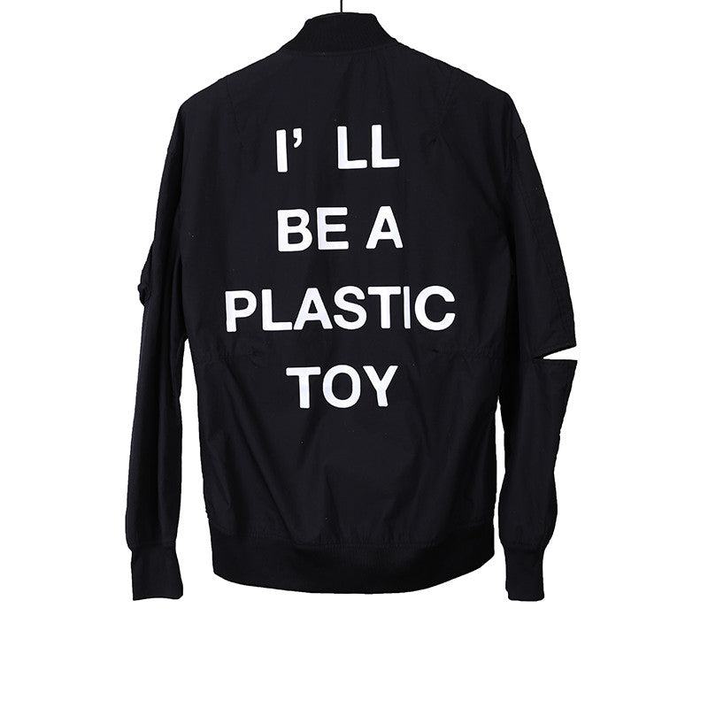 "UNDERCOVER 14SS ""I'LL BE A PLASTIC TOY"" PRINT BOMBER JACKET"