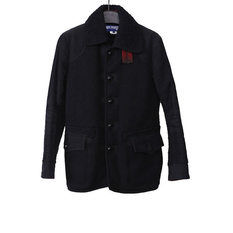 JUNYA WATANABE 11AW WOOL BLEND SHEARING COLLAR BUTTON DOWN JACKET