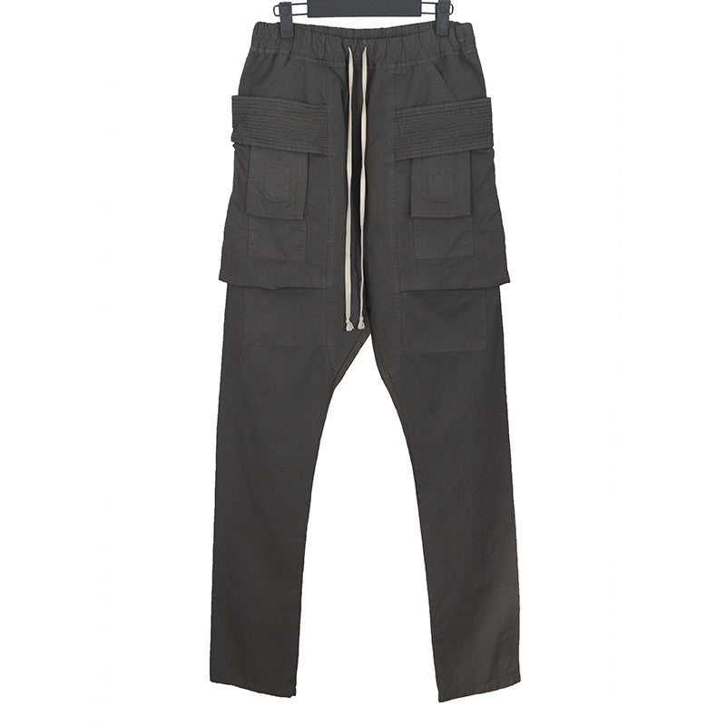 DRKSHDW BY RICK OWENS DROP CROTCH CARGO TROUSERS
