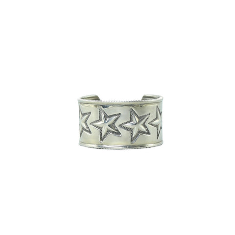 CODY SANDERSON SILVER SIX STAR COIN EDGE CUFF