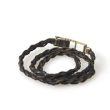 DEVOA WRAP LEATHER / CHAIN BRAIDED BRACELET