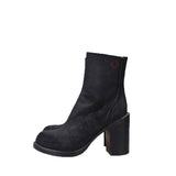 A.F.VANDEVORST 15AW HIGH BLOCK HEEL REVERSE LEATHER ANKLE BOOT