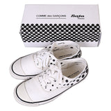 COMME DES GARCONS X BETA CANVAS DOTS ALL OVER TENNIS SNEAKERS