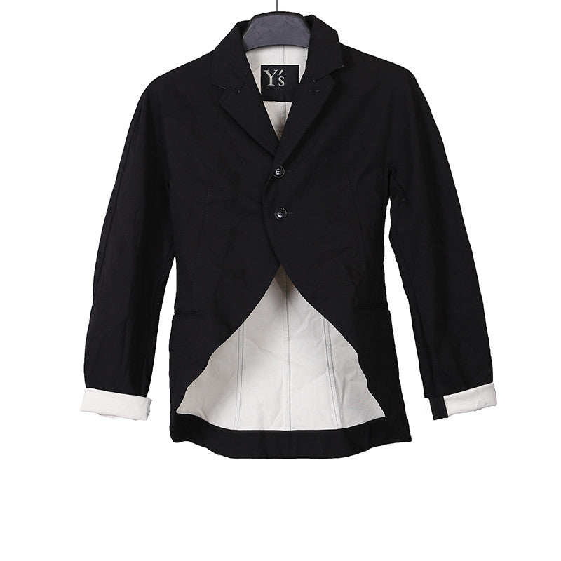 Y'S BY YOHJI YAMAMOTO 15AW TAIL SHORT JACKET WITH WHITE LINING
