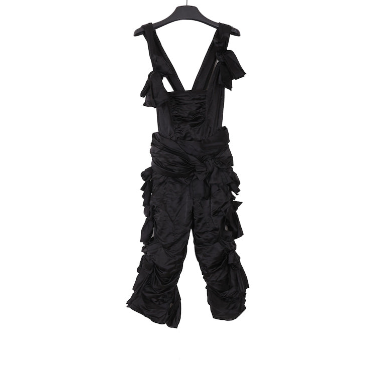 Comme des Garcons AW15 BLACK MULTI-BOW-KNOTTED ROMPERS